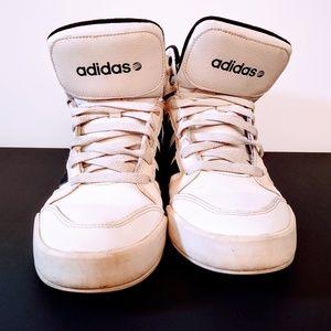 white Adidas high tops sz 9